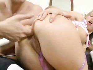 Young And Skinny Babe Bent Over For Anal Fucking
