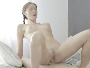 Perky Breasts Are Irresistible On His Horny Teen GF