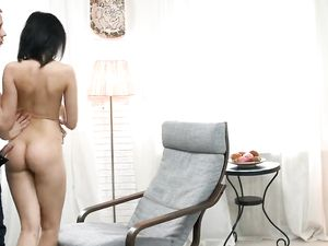 Nude Teen Beauty Bent Over For Arousing Doggystyle Sex