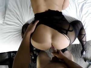 Black Body Stocking On A Babe He Fucks In POV