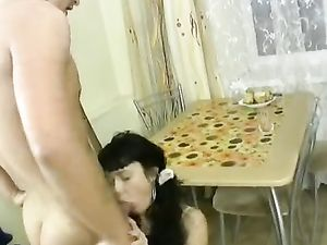 Real Teen Couple Fucking All Over The Kitchen