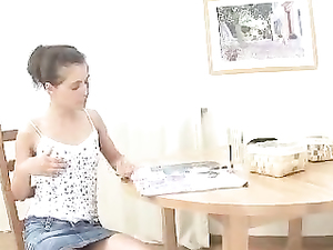 Hot Doggystyle Teenage Sex Over The Kitchen Table