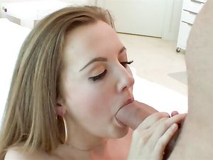 Tiny Slut Blows Her Man And Rides His Fat Fuck Stick