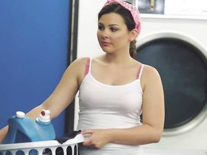 Doing Laundry With Her Man Who Loves Pounding Her