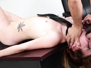 Teacher Dominates His Sexy Petite Brunette Student