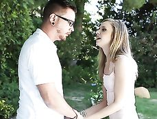 Teen Satisfied By Fat Cock Hardcore Sex Outdoors