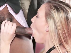 Paid Blonde Teen Making His BBC Produce Loads