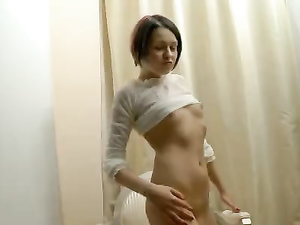 Simple Solo Striptease From A Beautiful Teenager