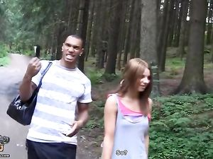 Friends In The Woods Share A Super Cute Slut