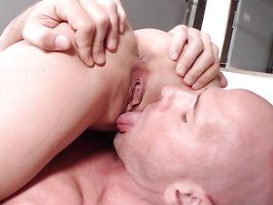 Big Dick Shoots A Hot Facial On The Busty Fuck Slut
