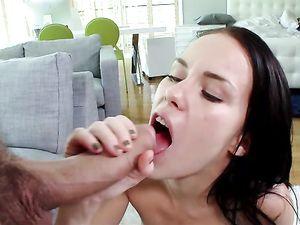 Petite Megan Rain Fucks A Big Cock Until It Cums