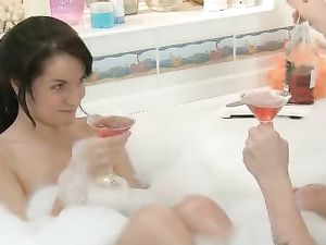 Cocktails And Fucking In The Tub With A Young Lady