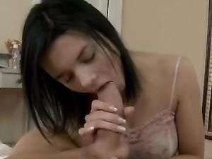 Fucking Her Soaked Russian Teen Pussy Against A Wall