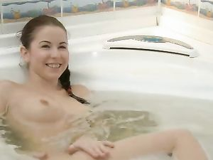 Wet Banging And Blowjob Action With A Bathing Teen