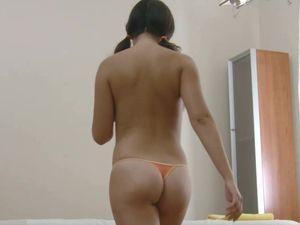 Big Natural Asian Titties Bounce As He Fucks The Slut