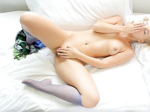 Cutest Teen Ever Plays With Her Tits And Pussy