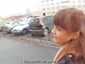 Public Fucking Makes The Cute Teen Girl Moan